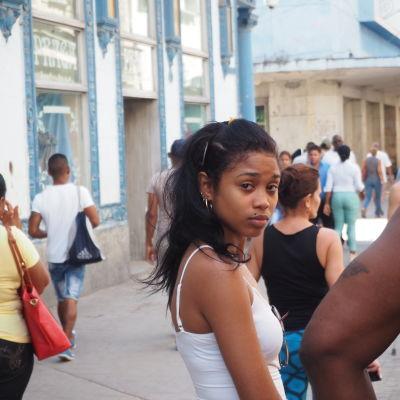 Flicka i Havanna