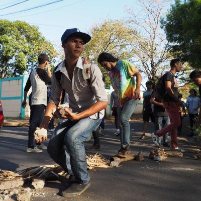 Studerande demonstrerar i Nicaragua