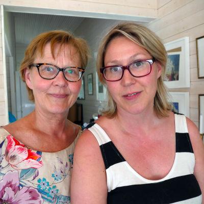 Ilona Mäenpää och Sigrid Sundell.