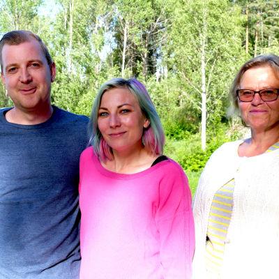 Staffan Nylund, Ann-Sofie Finne och Yvonne Renqvist.
