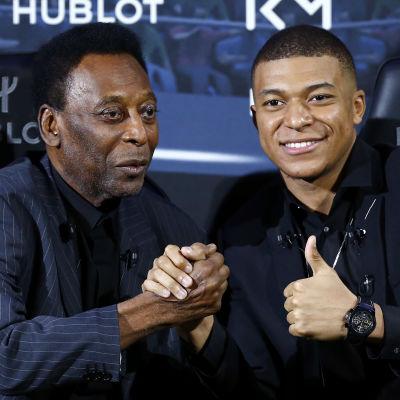 Pelé och Kylian Mbappe träffades i Paris