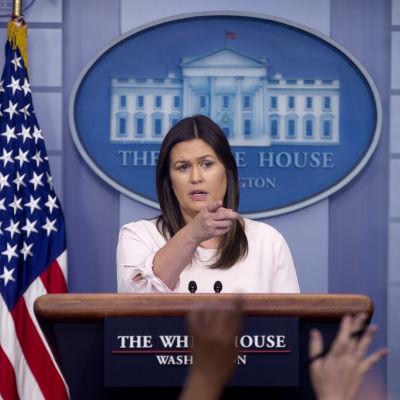 Sarah Sanders i Vita huset.