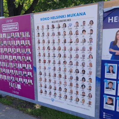 Valaffisch för Kristdemokraterna i Helsingfors