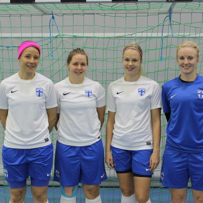 Från vänster: Daniela Tjeder, Heidi Lindström, Elina Myllymäki och Leena Lepikonmäki
