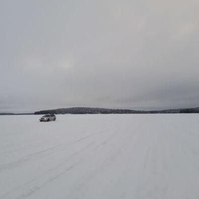 Vaajasalon jäätie helmikuussa 2021