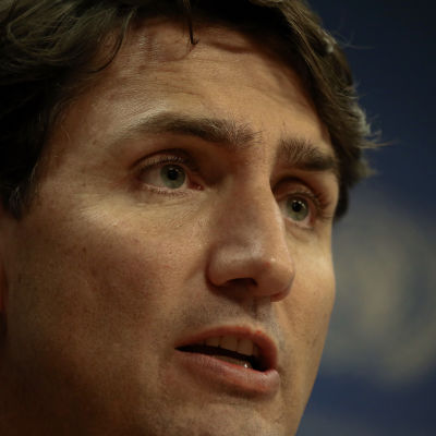 Närbild på Justin Trudeau.