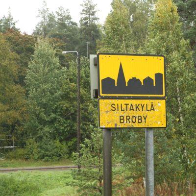 Broby skylt.