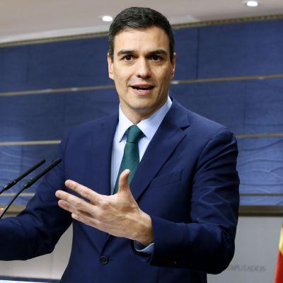 Espanjan sosialistipuolueen pääsihteeri Pedro Sánchez