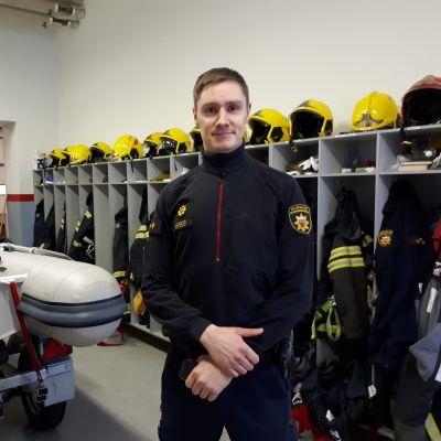 Brandmästare Antti Kätevä.