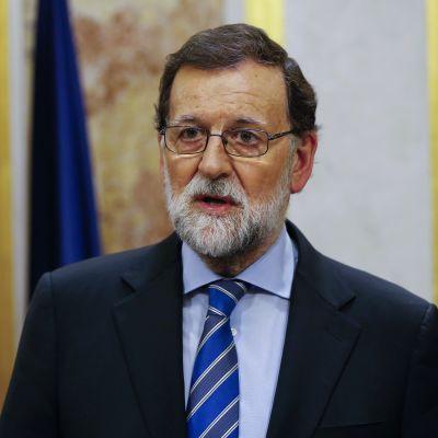 Spaniens premiärminister Mariano Rajoy under en presskonferens i Madrid den 23 maj.