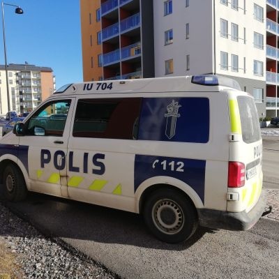 Polisbil i Sibbo under polisoperation