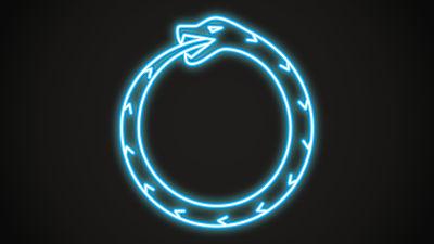 Symbolen för ormen Ouroboros.