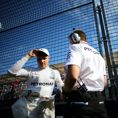 Valtteri Bottas inför Melbournes GP, våren 2017.