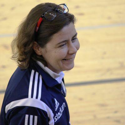 HIFK:s damtränare Birgitta Lindholm.