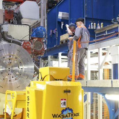 Produktion vid Wärtsilä Diesel, Vasa.