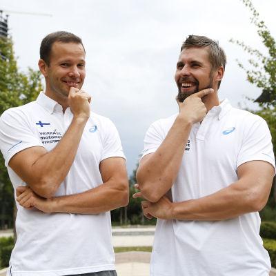 Tero Pitkämäki och Antti Ruuskanen, VM 2015.