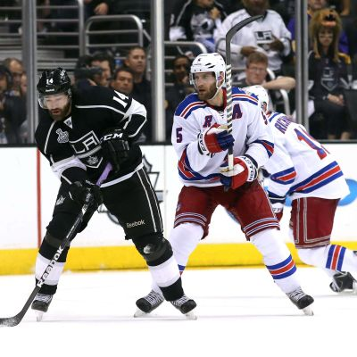 Justin Williams (t.v.), NHL-final ett, LA Kings-NY Rangers, 4.6.2014