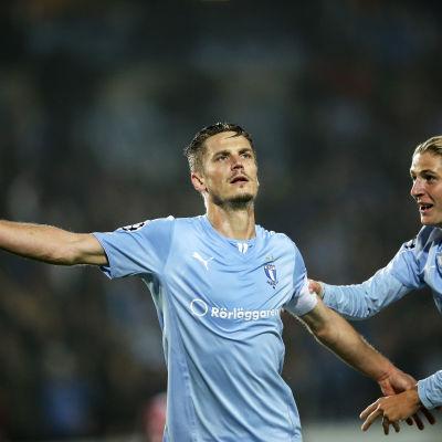 Markus Rosenberg målskytt mot Olympiakos i Champions League.
