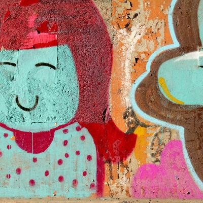 Graffitti seinällä