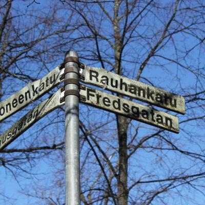 Korsningen Stadshusgatan-Fredsgatan i Borgå