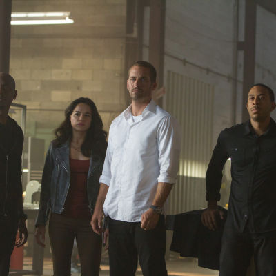Tyrese Gibson, Michelle Rodriguez, Paul Walker, Ludacris, Furious 7