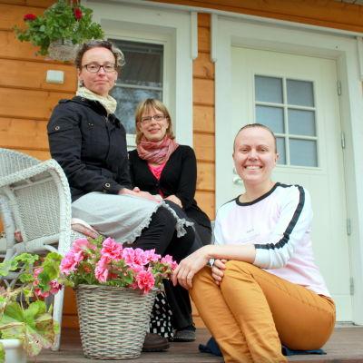 Pia Smeds, Paula Löfvik och Jenny Öist
