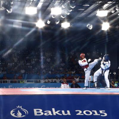 Taekwondo under europeiska spelen i Baku, juni 2015.