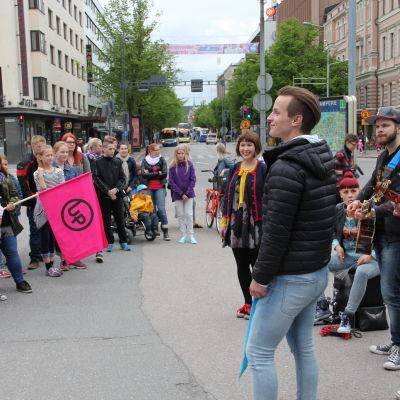 Vihreiden Valojen katusoitto Tampereella 25.6.2015 oli UP-historian ensimmäinen.