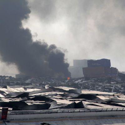 Åtminstone 50 personer dog och 700 personer skadades i en explosionsolycka i den kinesiska staden Tianjin den 12 augusti 2015.