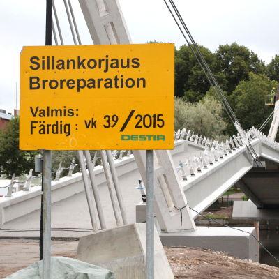 Gångbron i Borgå.