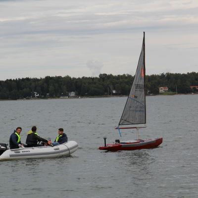 Världsmästerskapet i segling med robotstyrda miniatyrbåtar i Mariehamn 2015.