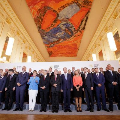 EU-ledare samlades i Wien den 27 augusti 2015 för att bland annat diskutera flyktingfrågan.