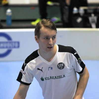 Janne Jaanus i en match i innebandyligan.