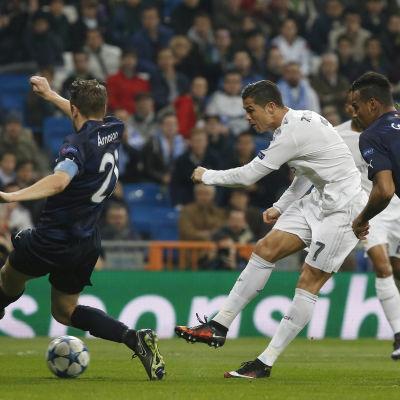Malmö kunde inte stoppa Cristiano Ronaldo.