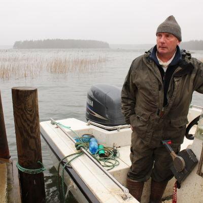Fiskaren Mikael Lindholm i Lovisa