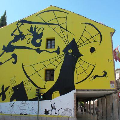 Cervantesia seinämaalauksena