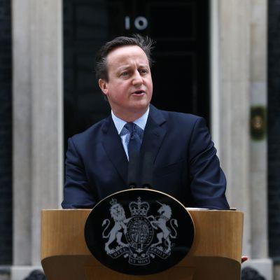 Storbritanniens premiärminister David Cameron i London den 20 februari 2016.