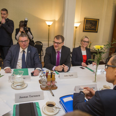 Timo Soini, Alexander Stubb, Juha Sipilä