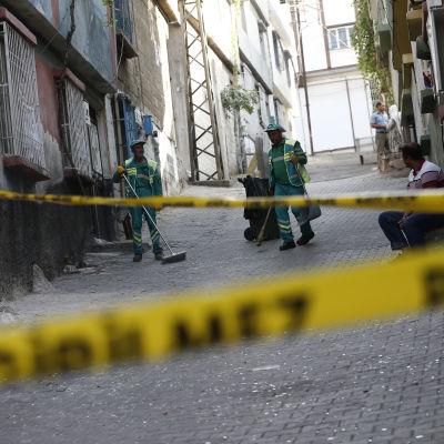 En bomb exploderade på ett bröllop i staden Gaziantep i Turkiet den 20 augusti 2016.