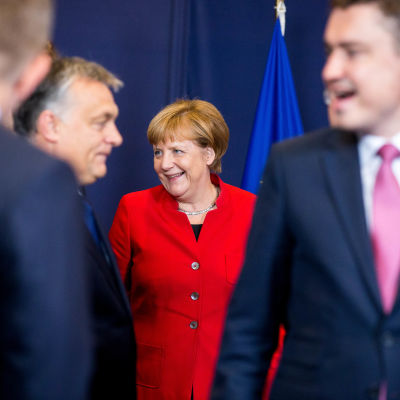 EU-toppmötet dryftade Ryssland.