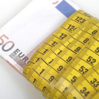 Bild på 50 euros sedel.