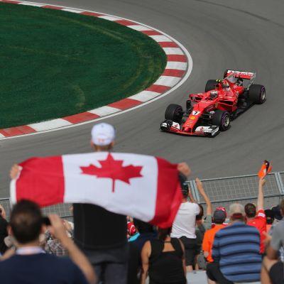 Kimi Räikkönen på banan i Kanada.