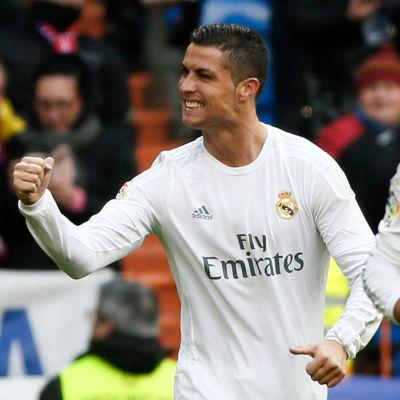 Cristiano Ronaldo satte fyra bollar mot Celta Vigo.