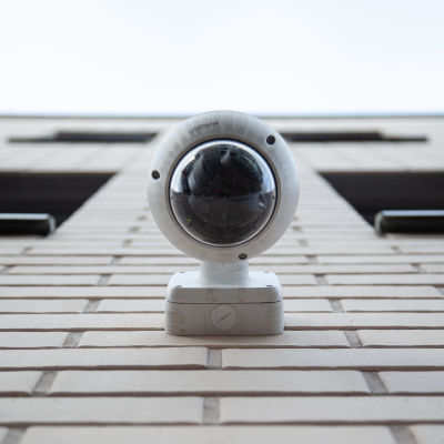 Övervakningskamera vid polisinrättningen i Villmanstrand.