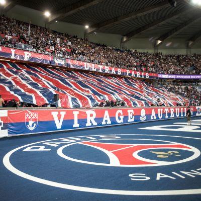 PSG-fanen under en match.