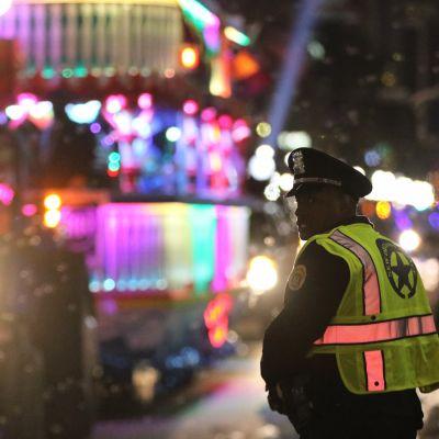 New Orleans efter incidenten då en pickup körde in i en folkmassa.