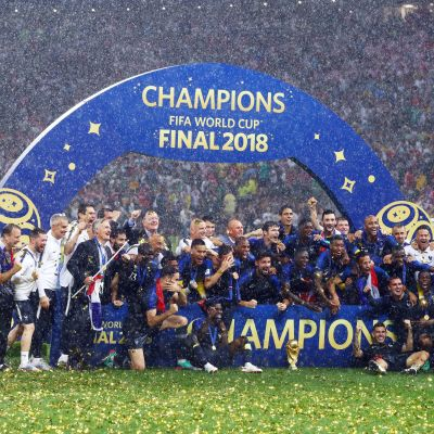 Frankrike firar VM-guld