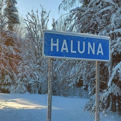 Halunan kyltti 75-tien varrella Kuopion Nilsiässä.