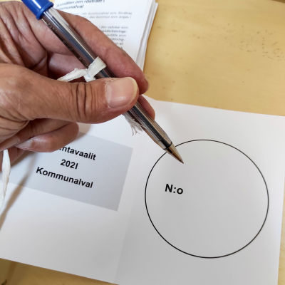 Äänestys, äänestyskoppi.
