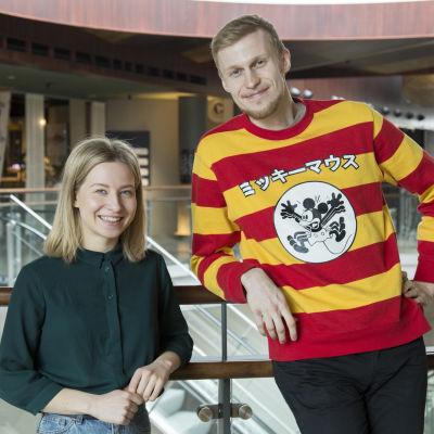 Tubettajat Sonja Hämäläinen (Soikku) ja Roni Bäck (Roni Back)